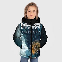 Куртка зимняя для мальчика Mass Effect: Andromeda цвета 3D-черный — фото 2