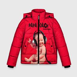 Куртка зимняя для мальчика Paparoach: Music Kid цвета 3D-черный — фото 1