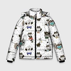 Куртка зимняя для мальчика Лесные супергерои цвета 3D-черный — фото 1