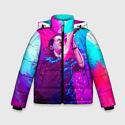 Куртка зимняя для мальчика Chester Bennington: Colors цвета 3D-черный — фото 1