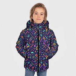Куртка зимняя для мальчика Геометрия цвета 3D-черный — фото 2