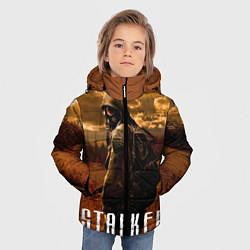 Детская зимняя куртка для мальчика с принтом STALKER: Radiation, цвет: 3D-черный, артикул: 10135204106063 — фото 2