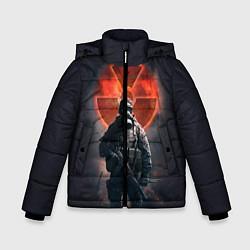 Куртка зимняя для мальчика STALKER: Red Sun цвета 3D-черный — фото 1