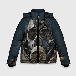 Детская зимняя куртка для мальчика с принтом STALKER: Mask, цвет: 3D-черный, артикул: 10135205106063 — фото 1