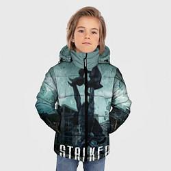 Куртка зимняя для мальчика STALKER: Pripyat цвета 3D-черный — фото 2