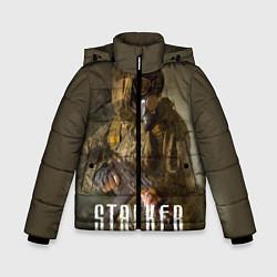Куртка зимняя для мальчика STALKER: Warrior цвета 3D-черный — фото 1