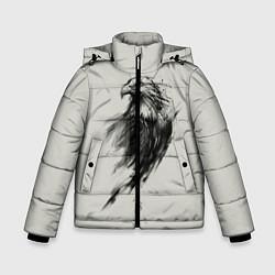 Детская зимняя куртка для мальчика с принтом Дикий орел, цвет: 3D-черный, артикул: 10135213906063 — фото 1