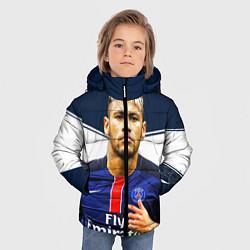 Куртка зимняя для мальчика Neymar: Fly Emirates цвета 3D-черный — фото 2