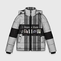 Куртка зимняя для мальчика Группа Depeche Mode цвета 3D-черный — фото 1