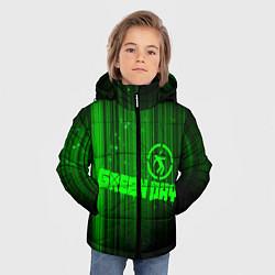 Куртка зимняя для мальчика Green Day лучи цвета 3D-черный — фото 2