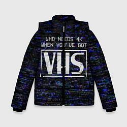 Куртка зимняя для мальчика 4K VHS цвета 3D-черный — фото 1