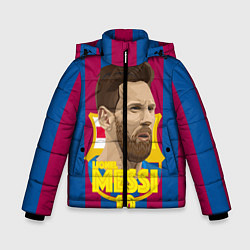 Куртка зимняя для мальчика FCB Lionel Messi цвета 3D-черный — фото 1