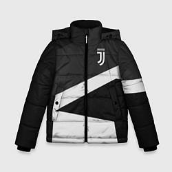 Куртка зимняя для мальчика FC Juventus: Sport Geometry цвета 3D-черный — фото 1