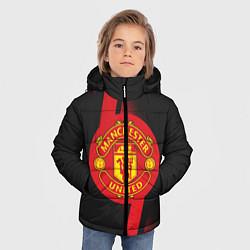 Куртка зимняя для мальчика FC Manchester United: Storm цвета 3D-черный — фото 2