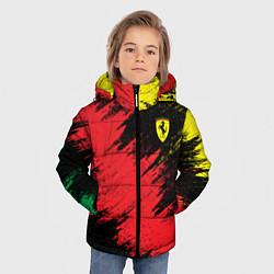 Детская зимняя куртка для мальчика с принтом Ferrari: True Colors, цвет: 3D-черный, артикул: 10141258106063 — фото 2