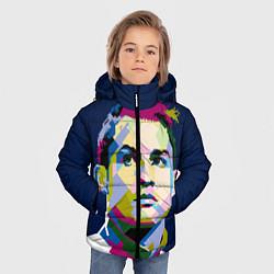 Куртка зимняя для мальчика Cristiano Ronaldo Art цвета 3D-черный — фото 2