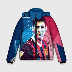 Детская зимняя куртка для мальчика с принтом Lionel Messi, цвет: 3D-черный, артикул: 10141374106063 — фото 1