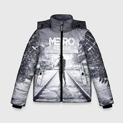 Детская зимняя куртка для мальчика с принтом Metro Exodus, цвет: 3D-черный, артикул: 10141949906063 — фото 1