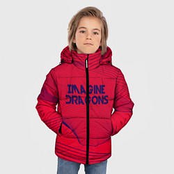 Детская зимняя куртка для мальчика с принтом Imagine Dragons: Violet Stereo, цвет: 3D-черный, артикул: 10142143106063 — фото 2