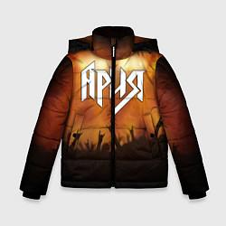 Детская зимняя куртка для мальчика с принтом Ария, цвет: 3D-черный, артикул: 10142999306063 — фото 1