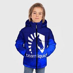 Детская зимняя куртка для мальчика с принтом Team Liquid: Polygons, цвет: 3D-черный, артикул: 10143164106063 — фото 2