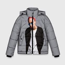 Детская зимняя куртка для мальчика с принтом T-Fest, цвет: 3D-черный, артикул: 10144503706063 — фото 1