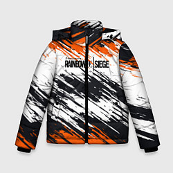 Куртка зимняя для мальчика Rainbow Six Siege: Orange цвета 3D-черный — фото 1