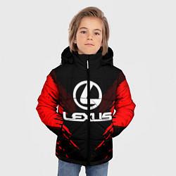 Куртка зимняя для мальчика Lexus: Red Anger цвета 3D-черный — фото 2
