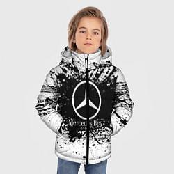 Куртка зимняя для мальчика Mercedes-Benz: Black Spray цвета 3D-черный — фото 2