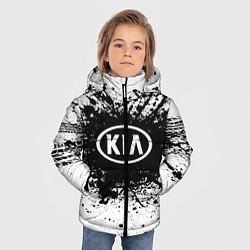 Детская зимняя куртка для мальчика с принтом KIA: Black Spray, цвет: 3D-черный, артикул: 10147678906063 — фото 2