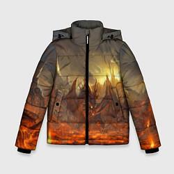 Детская зимняя куртка для мальчика с принтом Linage II: Fire Dragon, цвет: 3D-черный, артикул: 10147854506063 — фото 1