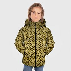 Куртка зимняя для мальчика Обережная вышивка цвета 3D-черный — фото 2