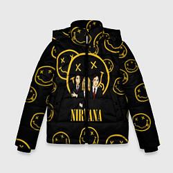 Куртка зимняя для мальчика Nirvana: Smiles Wave цвета 3D-черный — фото 1