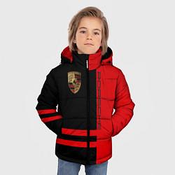 Куртка зимняя для мальчика Porsche: Red Sport цвета 3D-черный — фото 2
