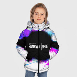 Куртка зимняя для мальчика Rainbow Six Siege: Color Style цвета 3D-черный — фото 2