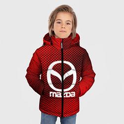 Детская зимняя куртка для мальчика с принтом Mazda: Red Carbon, цвет: 3D-черный, артикул: 10150547906063 — фото 2