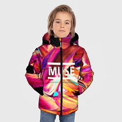 Куртка зимняя для мальчика MUSE: Neon Colours - фото 2