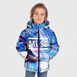 Куртка зимняя для мальчика MUSE: Blue Colours цвета 3D-черный — фото 2