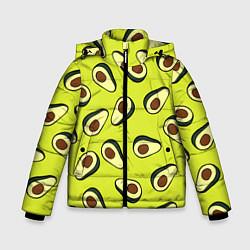 Куртка зимняя для мальчика Стиль авокадо цвета 3D-черный — фото 1