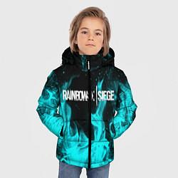 Куртка зимняя для мальчика R6S: Turquoise Flame цвета 3D-черный — фото 2
