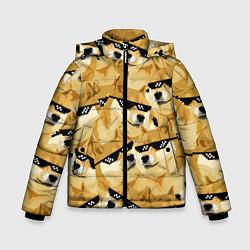 Куртка зимняя для мальчика Doge: Deal with it цвета 3D-черный — фото 1