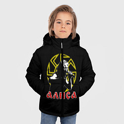 Куртка зимняя для мальчика АлисА: Коловрат цвета 3D-черный — фото 2