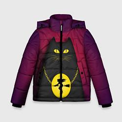 Куртка зимняя для мальчика Кот Бегемот цвета 3D-черный — фото 1