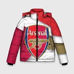 Куртка зимняя для мальчика FC Arsenal цвета 3D-черный — фото 1