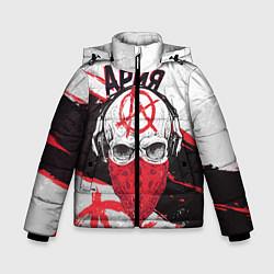 Детская зимняя куртка для мальчика с принтом Ария: Анархия, цвет: 3D-черный, артикул: 10152628106063 — фото 1
