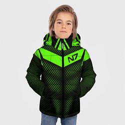 Куртка зимняя для мальчика N7: Green Armor цвета 3D-черный — фото 2