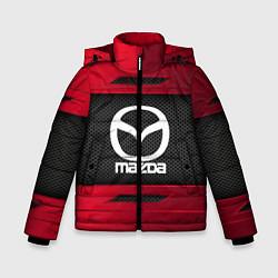 Детская зимняя куртка для мальчика с принтом Mazda Sport, цвет: 3D-черный, артикул: 10152931906063 — фото 1