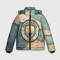 Куртка зимняя для мальчика FC Man City: Old Style цвета 3D-черный — фото 1