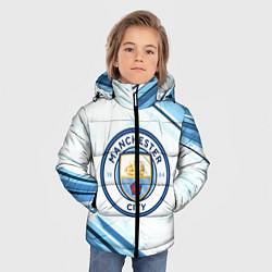 Детская зимняя куртка для мальчика с принтом Manchester city, цвет: 3D-черный, артикул: 10154362106063 — фото 2