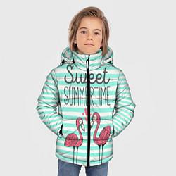 Куртка зимняя для мальчика Sweet Summer Flamingo цвета 3D-черный — фото 2